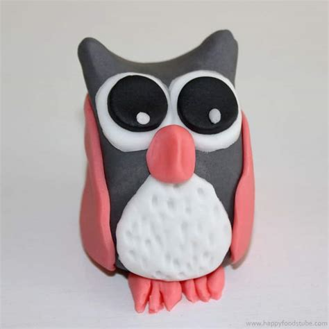 Owl Icing Decorations by How To Make A Sugar Paste Fondant Owl Cake Topper Happy