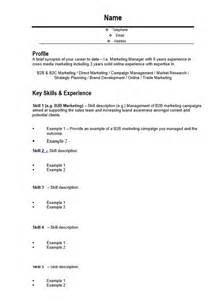 cv marketing template 10 marketing resume template free word pdf sles