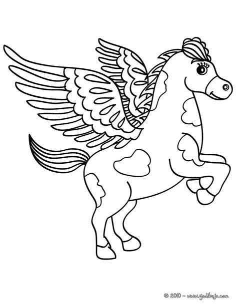 flying pony coloring pages unicornio con alas para colorear imagui