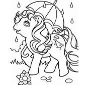 My Little Pony  I Love Rainy Day Coloring Page