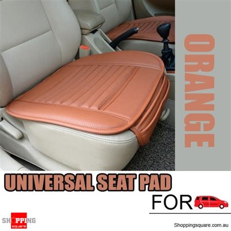 orange universal chair covers universal pu leather seat seatpad cover decor for auto car