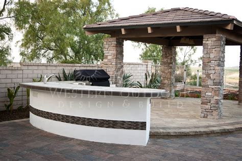 bar island stucco finish bbq islands outdoor kitchens gallery western