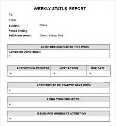 template for weekly report 7 weekly status report templates word excel pdf formats