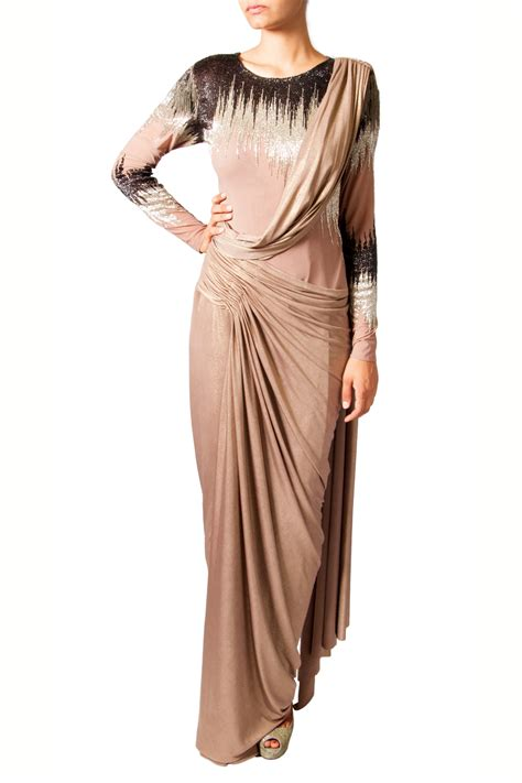 drape gowns buy online drape sari gown by indian designer babita malkani