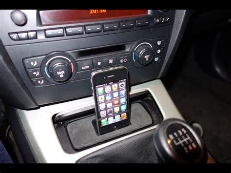 DIY: iPhone 4/4S 5/5S dock for BMW E90/E91/E92/E93   YouTube