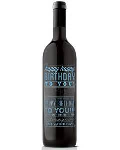 mano s wine happy birthday to you etched wine bottle