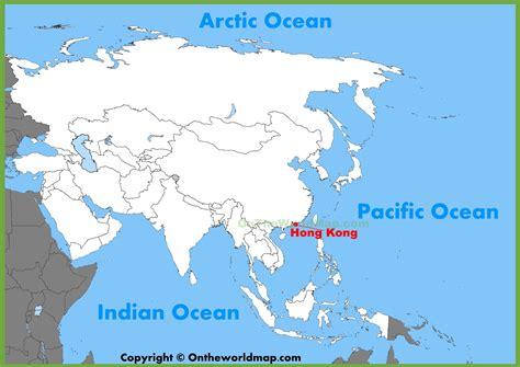 hong kong location   asia map
