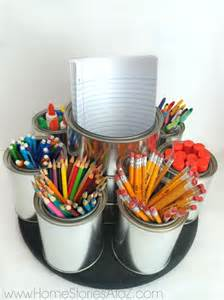 How To Organize My Desk Back To Organization Diy Lazy Susan Homework Caddy
