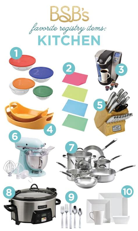 must have kitchen items list 12 best images about wedding registry checklist on