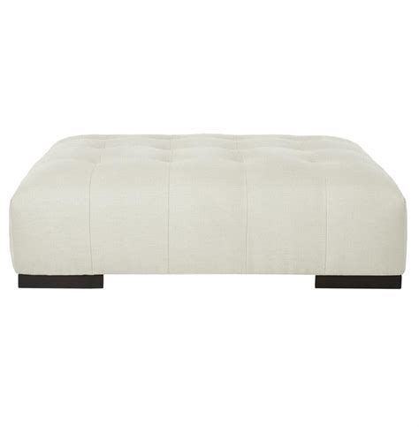Tufted White Ottoman Cisco Brothers Arden Modern Classic Tufted White Linen Rectangle Coffee Table Ottoman Kathy