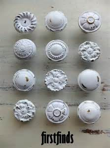 Misfit 12 shabby chic furniture knobs white vintage drawer hardware