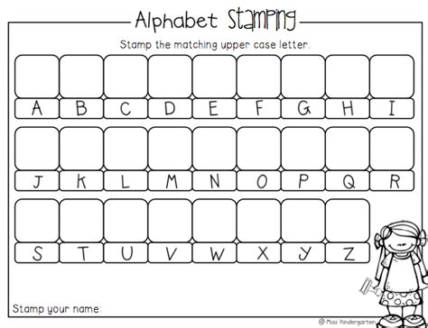 printables for kindergarten centers alphabet sting activity from miss kindergarten