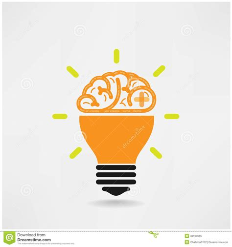 creative brain symbol creativity sign business sym royalty
