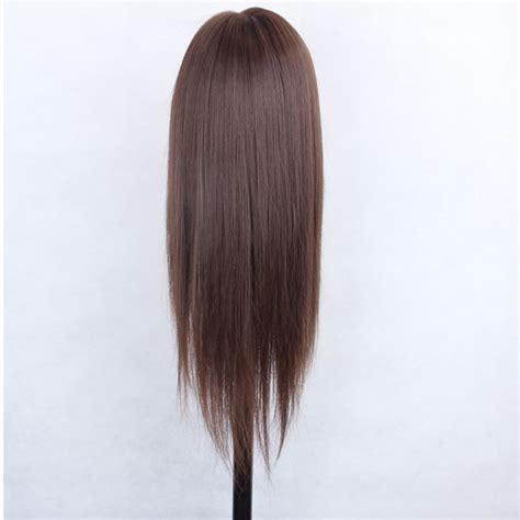 testa per parrucchieri testa di manichino capelli veri 80 45cm per parrucchiere