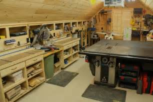 garage shops woodshop workshop 2nd floor of garage