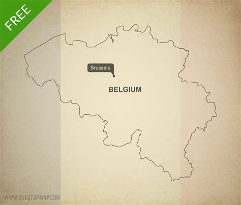 belgium map outline free vector map of belgium outline one stop map