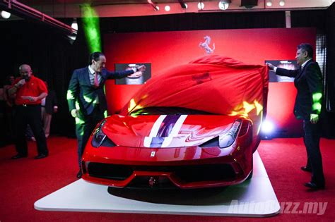 458 speciale malaysia 458 speciale launched in malaysia by naza italia