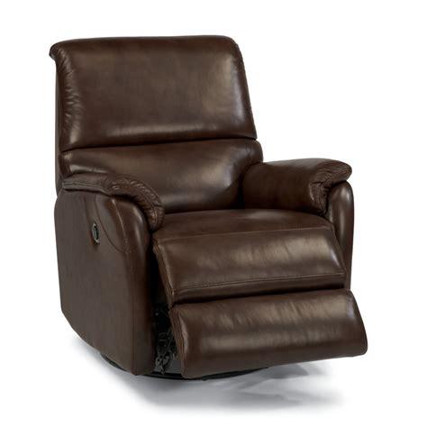power swivel recliner flexsteel 1429 53p ian leather power swivel gliding