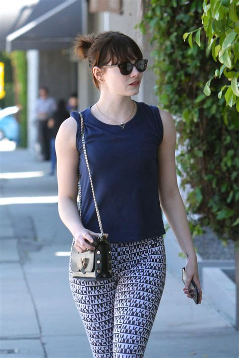 emma stone workout emma stone in spandex in weho after a workout 3 24 2016