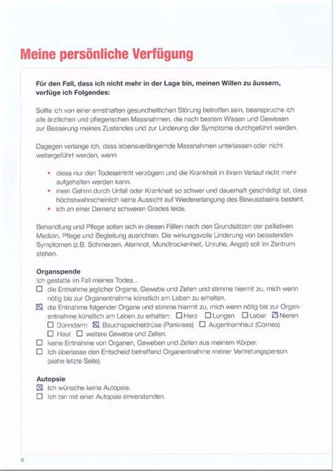 Muster Vorsorgeauftrag Schweiz muster vorsorgeauftrag 28 images read book protokoll