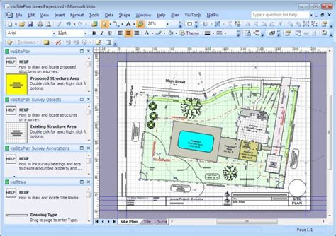 visio engineering shapes visisiteplan set visio app for surveys and site plans