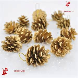 Tree Branch Decorations In The Home aliexpress com buy golden pine cones christmas tree