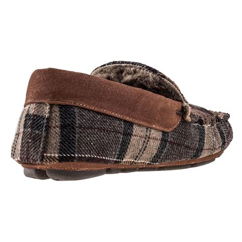 thinsulate slippers barbour monty thinsulate tartan mens slippers in camel