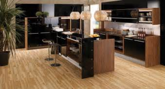Wooden Kitchen Designs Glossy Lacquer With Wood Kitchen Design Vitrea From Braal Digsdigs