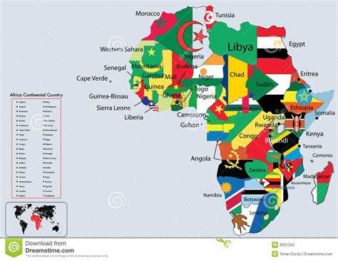 africa map flags political map of africa 1955 cadillac