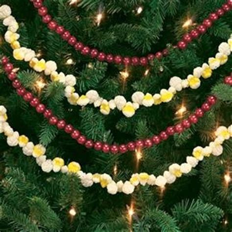 wood cranbery beads for christmas trees paint wooden and string together to make garland for tree winter