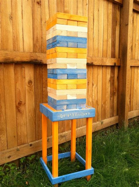 patio jenga outdoor broncos jenga football pinterest jenga