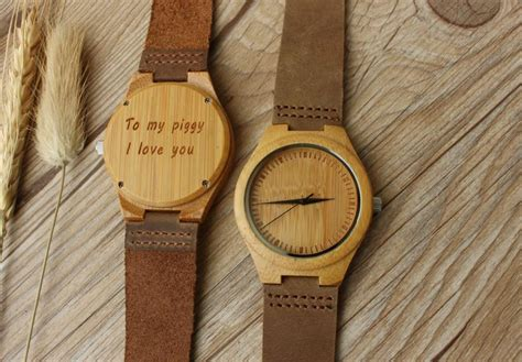 romantic gift for wife romantic gift wooden watch for boyfriend gift for him