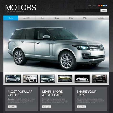 Car Template For Joomla Download Free Apps Trueinternet Joomla Automotive Template
