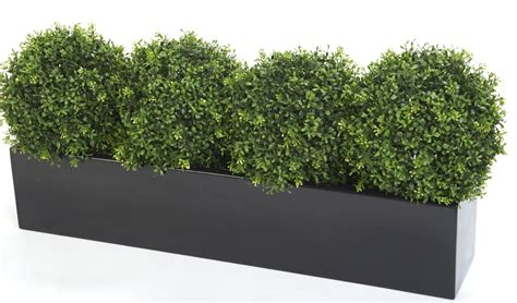 Hedge In Planter Boxes window box with artificial box plants