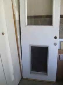 Exterior Door With Doggie Door Exterior Door Fixed Glass Door In Los Angeles Ca 90066 Diggerslist