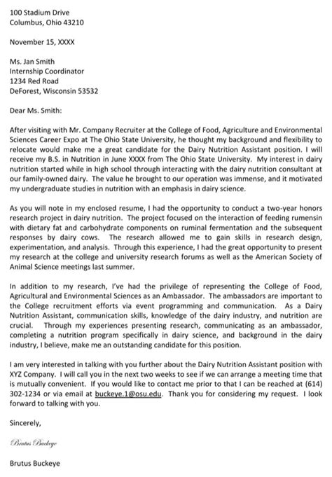 agriculture cover letter agriculture cover letter exles for free page