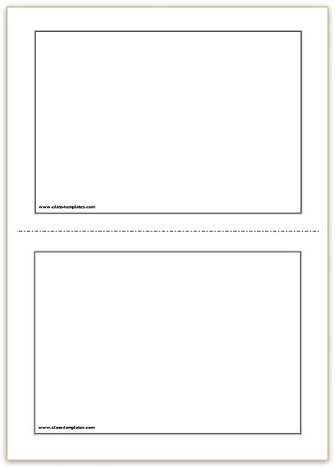 a4 card template word flash card template