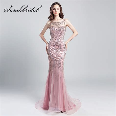 Luxe To Less Tulle Prom Dress by Vintage Blush Luxury Beading Mermaid Evening Dresses 2018