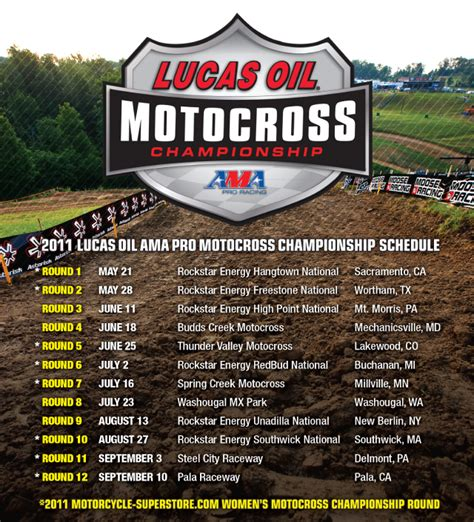 ama pro motocross schedule lucas oil pro motocross 40 day countdown to ama
