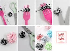 bump smitten diy tutorial mini twine pom poms