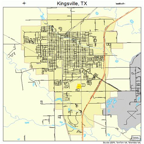 map of kingsville texas kingsville texas map 4839352