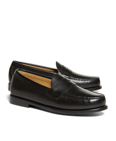 brothers loafer brothers classic loafers in black for lyst