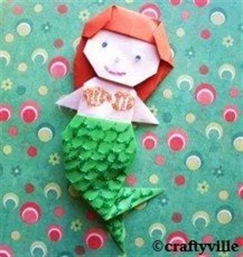 How To Make An Origami Mermaid - origami mermaid folding mermaid birthday