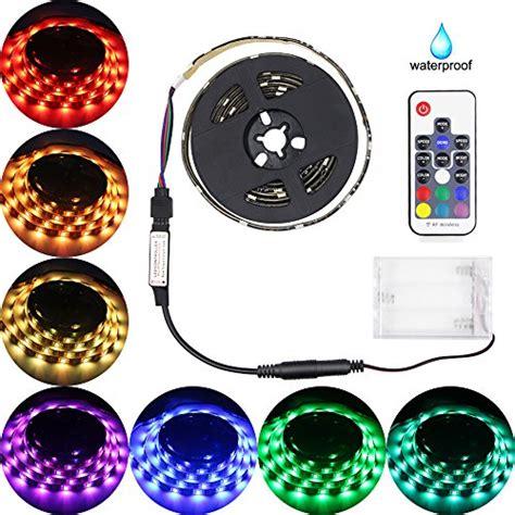 battery powered colored led light strips abtong battery powered led lights with remote waterproof led light rgb smd