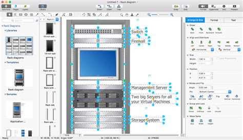 how to create use diagram in visio create a visio rack diagram conceptdraw helpdesk