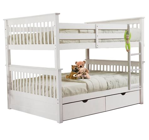 white full over full bunk beds sca milan full over full bunk bed white furtado furniture