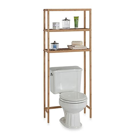 bamboo bathroom space saver buy ecostyles bamboo 3 shelf space saver tower from bed