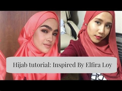 tutorial hijab segiempat natasya hijab tutorial inspired by elfira loy youtube