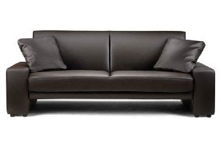 cheap leather sofa beds bedworld discount supra brown faux leather sofa bed