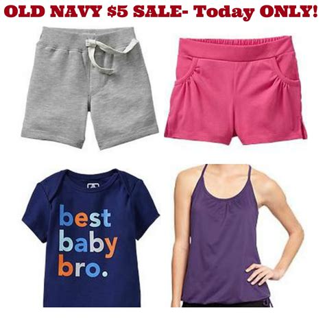 Old Navy Sweepstakes 2014 - old navy kids shorts women s tops and baby clothes just 5 today only